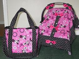 **MINNIE MOUSE**diaper bag/tote & Handmade Baby Car Seat Can