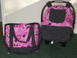**MINNIE MOUSE**Fitted Baby car seat canopy-cover w/matching