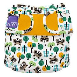 Bambino Mio, miosoft cloth diaper cover, raccoon retreat, si