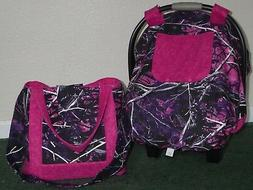 **MOONSHINE MUDDY GIRL**camo fitted car seat canopy cover &