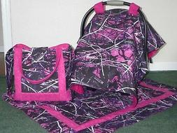 **MOONSHINE MUDDY GIRL** camo tote/diaper bag Car Seat Canop