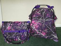 *MOONSHINE MUDDY GIRL**camo w/Diaper Bag/tote Handmade Car S