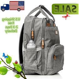 Diaper bag backpack Baby Travel multi function waterproof la