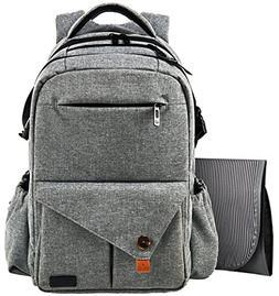 HapTim Multi-function Large Baby Diaper Bag Backpack W/Strol