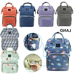 LAND Mommy Baby Diaper Bag Large Capacity Mom Backpack Baby