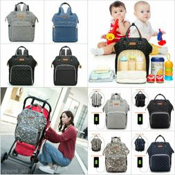 Mummy Maternity Baby Diaper Bag Nappy Changing Backpack Mult