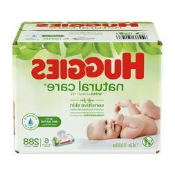 HUGGIES Natural Care Baby Wipes Sensitive Skin Flip Top Pack