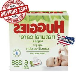 HUGGIES Natural Care Unscented Baby Wipes, Sensitive, 6 Disp