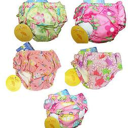 NEW Lot of 3 I Play Baby Girl Ultimate Reusable Swim Diapers