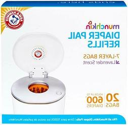 NEW! Munchkin Arm & Hammer Diaper Pail Snap, Seal and Toss R