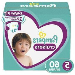 NEW Pampers Cruisers Baby Diapers Super Pack - Size:5 - 60-C