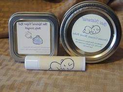 New Baby Gift Set - ALL NATURAL - Lip Balm, Vapor Rub, Booty