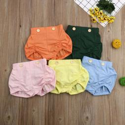 New Baby Infant Girls Ruffles PP Pants Bloomers Diaper Nappy