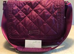 New Vera Bradley 'Berry/Heather' Puffy Quilted Messenger Lap