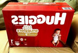 *NEW* Box of HUGGIES Little Snugglers DIAPERS 198 Count Size
