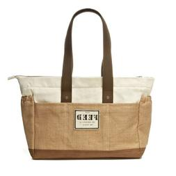 New FEED PROJECTS Canvas & Burlap Diaper Tote Bag