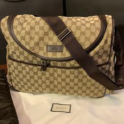 NEW Gucci Diaper Bag GG Monogrammed Canvas