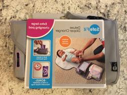 NEW - Safe Fit Diaper Changer Grey & Pink w/ xl changing pad
