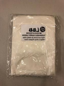 NEW! LBB~Flushable Cloth Liners For Diapers Inserts~Unscente