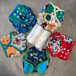 NEW Lot 5 Washable Reusable Adjust Cloth Diaper 4 layers Bam