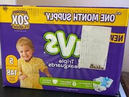 New Opened Diapers Size 5, 148 Count - Luvs Triple Leakguard