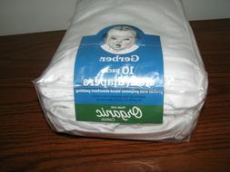 NEW Gerber Organic 10-Pack Cloth Diapers - Certified OEKO-TE