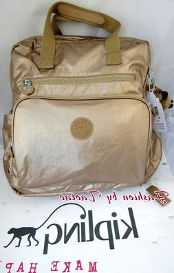 New w Tag Kipling Audrie Diaper Bag Backpack w Changing Pad