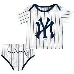 New York Yankees Newborn Infant Baby Shirt and Diaper Romper