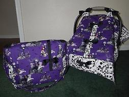 **NIGHTMARE BEFORE CHRISTMAS** Diaper Bag & Handmade Baby Ca