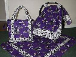 **NIGHTMARE BEFORE CHRISTMAS**Diaper Bag/tote Car Seat Canop