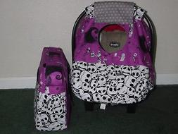 **NIGHTMARE BEFORE CHRISTMAS **Fitted car seat canopy w/matc