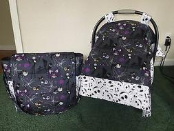 **NIGHTMARE BEFORE CHRISTMAS** Handmade Baby Car Seat Canopy