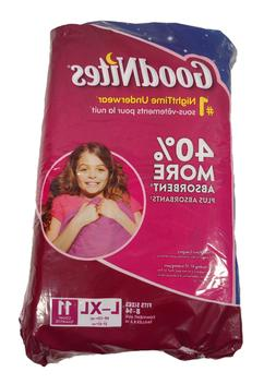 Goodnites Nighttime Underwear Diapers Pull On Girls L-XL 11