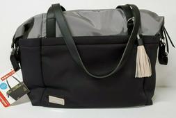 Skip Hop Nolita Diaper Tote Bag, Neoprene, Black with Gray,