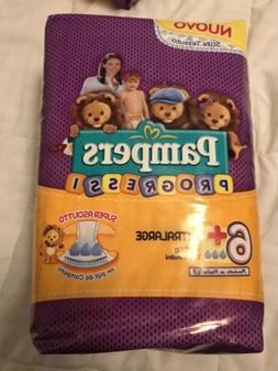 """Non-Vintage Pampers Progressi Size 6+ Diapers 31""""-33"""" Wa"""