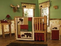 Trend Lab Northwoods 10-Piece Complete Crib Bedding Set
