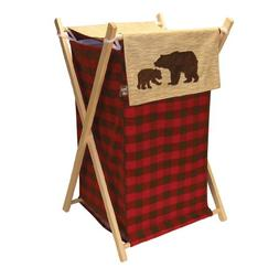 Trend Lab Northwoods Hamper Set, Red/Tan