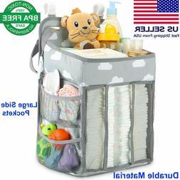 Nursery Organizer Hanging Diaper Caddy Diaper Stacker for Ch