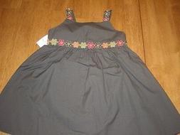 NWT Girls Size 2T Gymboree Batik Sun Dress Olive Green Flowe