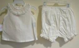 NWT Heirloom Baby Sen Smocked Collar Diaper Set Girl's  Size
