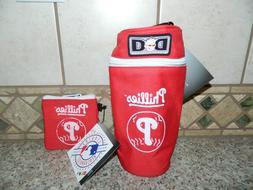 NWT DIAPER DUDE MLB Philadelphia Phillies PACIFIER POUCH & B