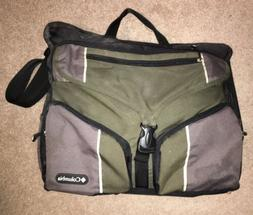 Columbia Outfitter Messenger Baby Diaper Bag, Green Black &