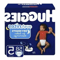 HUGGIES OverNites Diapers, Size 5 , 58 ct, Overnight Diapers