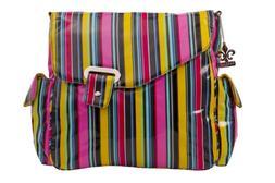 Kalencom Ozz Coated Diaper Bag in Petal Stripes