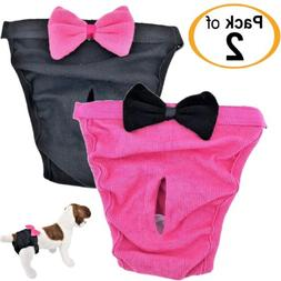 PACK- 2 Dog Diapers Female Cat Girl SMALL and LARGE Pets 100