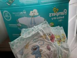 Pamper baby dry diaper size 2 sample lot of 7