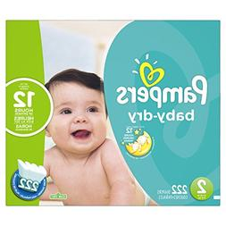 Pampers Baby Dry Size 2 Diapers Economy Plus Pack - 222 Coun