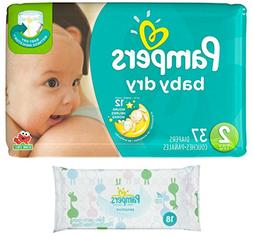 Pampers Baby Dry Size 2 Disposable Diapers - 37 count  + Sen