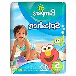 Pampers Splashers Disposable Swim Diapers Size 5 22 Count JUMBO