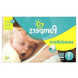 Pampers Swaddlers Disposable Diapers Newborn Size 1 , 100 Co